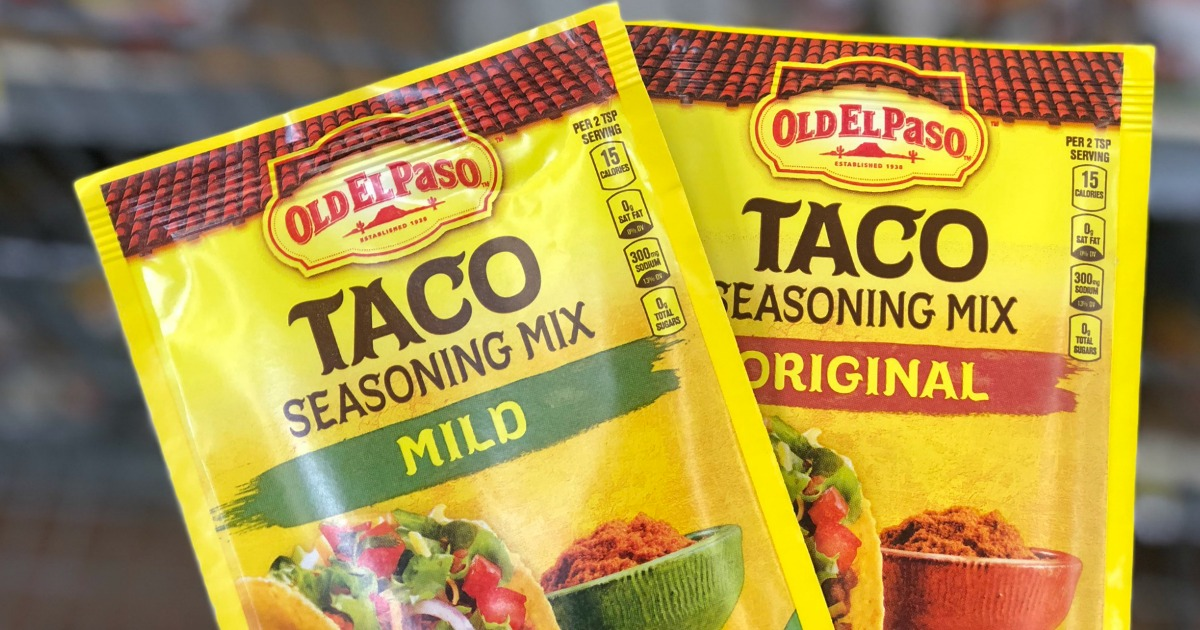 Old El Paso Taco Seasoning Only 37 At Walmart More Hip2save