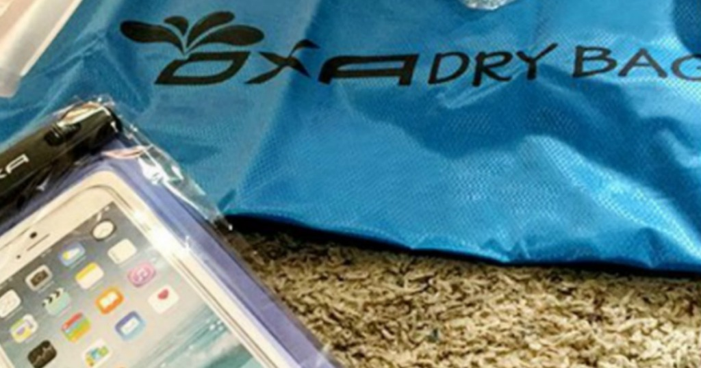Keep your items dry at the beach with this OXA Dry Bag