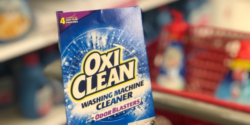 OxiClean Washing Machine Cleaner 4-Count Box Only $3 Shipped at Amazon