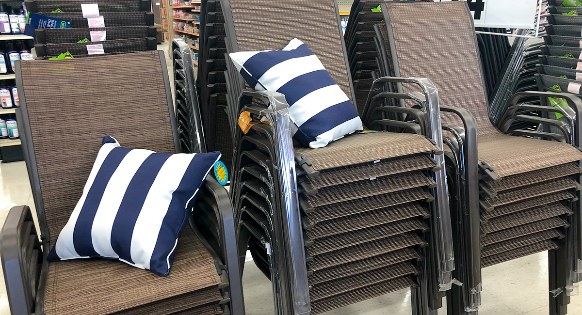 budget patio finds — sling chairs