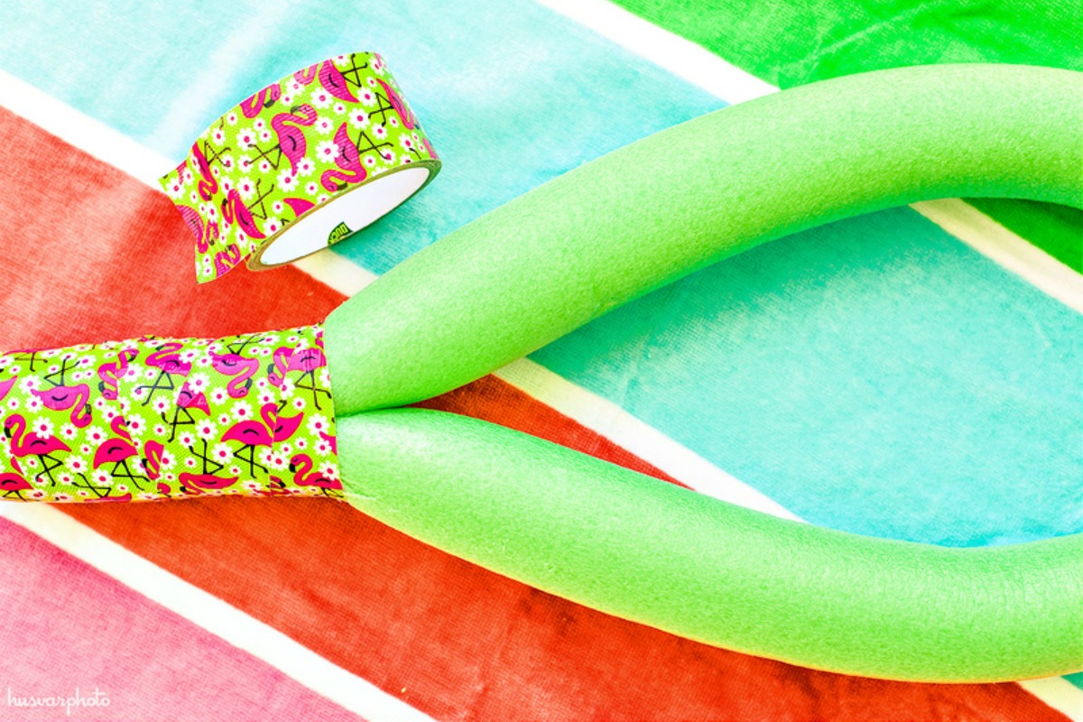 dollar tree pool supplies and fun hacks — diy pool noodle racket
