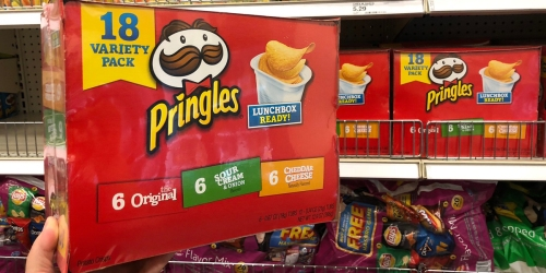 Amazon: Pringles 18-Count Variety Snack Pack Just $6 Shipped (Only 34¢ Each)