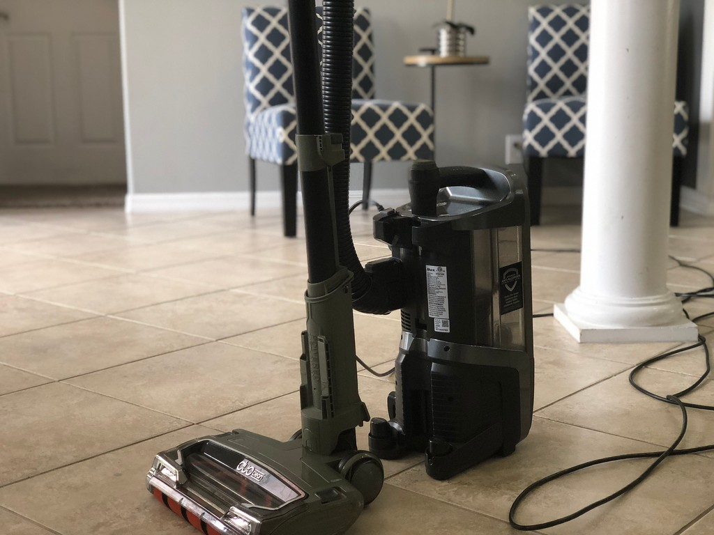 Shark APEX DuoClean vacuum review – upright with tank on the floor