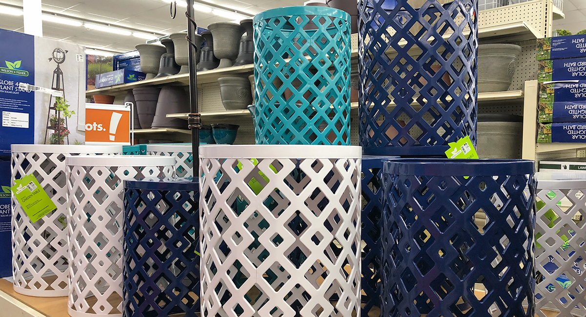 budget patio finds — colorful garden side tables