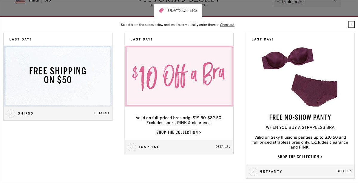 Collin's money-saving shopping tips for Victoria's Secret — stack promo offers and coupons