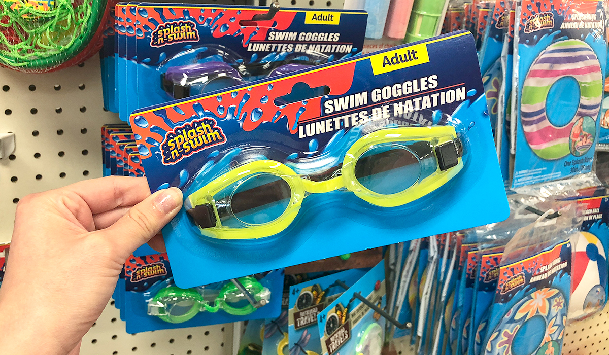 dollar tree pool supplies and fun hacks — swim goggles