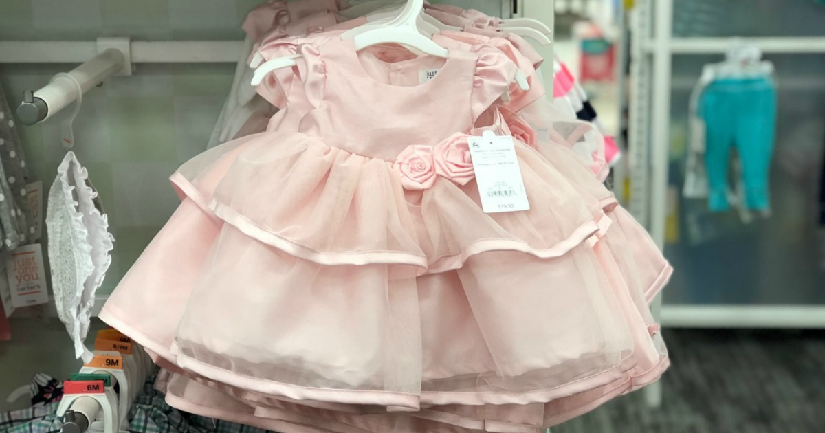 fcf4f3299 Hop on over to Target.com where they are offering up to 50% off baby girl  dresses by Carter's, Mia & Mimi, and more. No promo code is needed as the  prices ...
