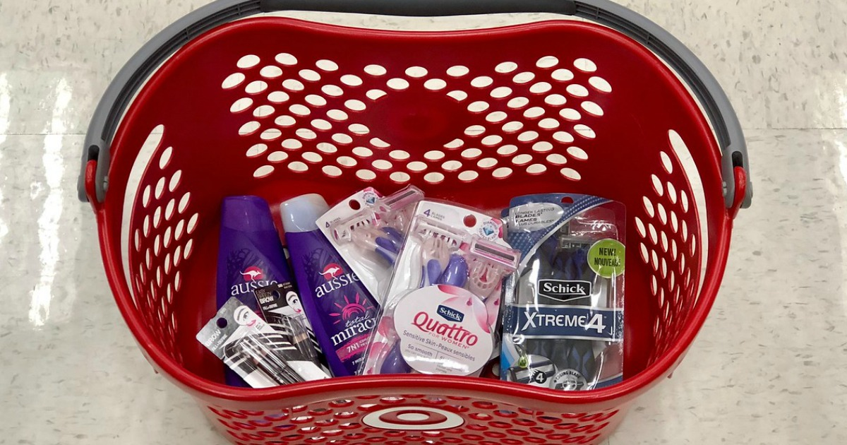 Target basket full of personal care items