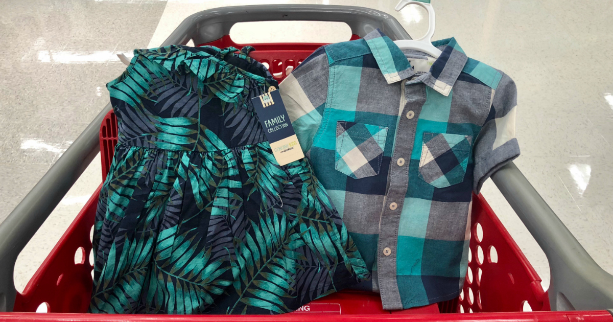 Target matching family outfits offer breezy summer looks in different prints.