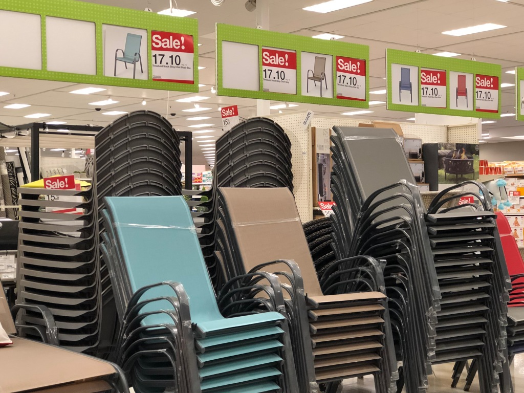 Target Com Threshold Sling Stacking Patio Chairs Only 14