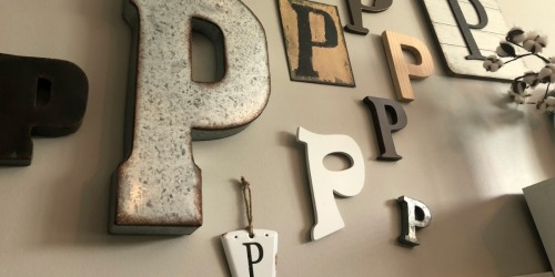 There's P On My Wall! Simple & Fast Home Decor Idea