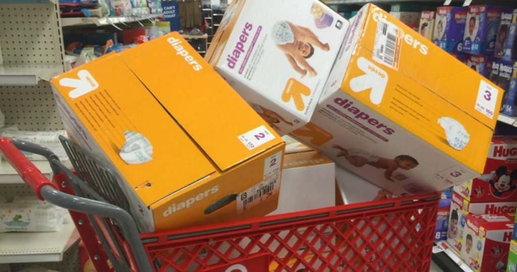 Up & Up Diapers in cart
