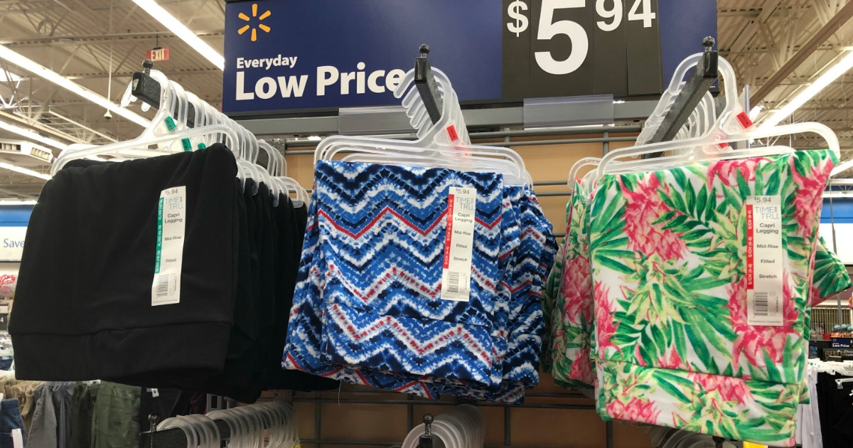b890f72791b3ea Time & Tru Capri Leggings Only $5.94 at Walmart (Online & In-Store ...