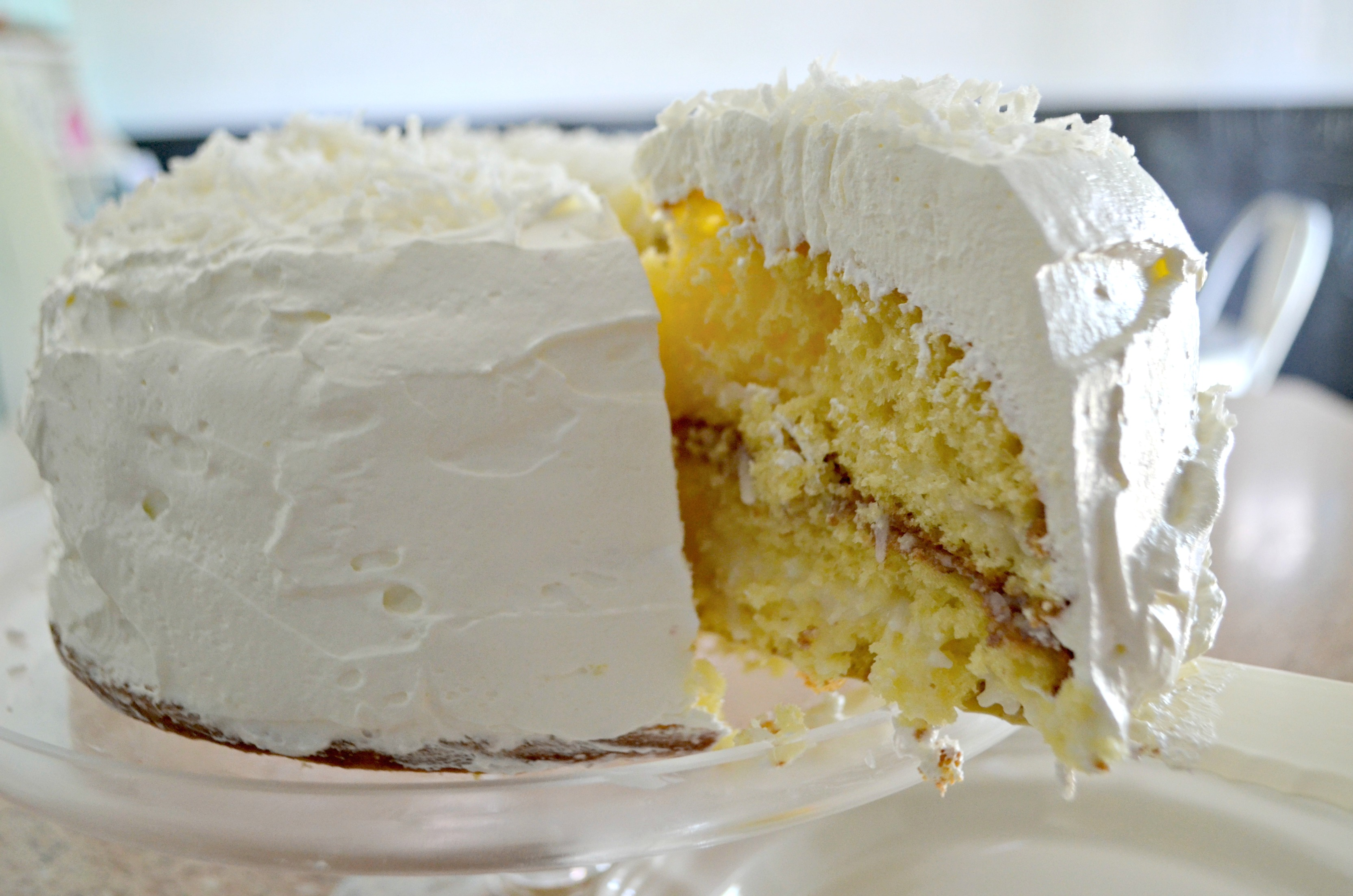 This easy coconut cake is perfect any time of year, but it's best refrigerated.