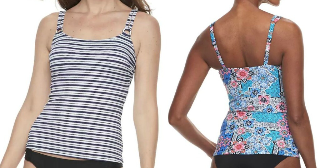 9d9246269f6 Hop on over to Kohls.com where they have Women's Swim Separates on sale  with prices as low as $14.99! Choose from Tankini Tops, Bikini Tops, ...