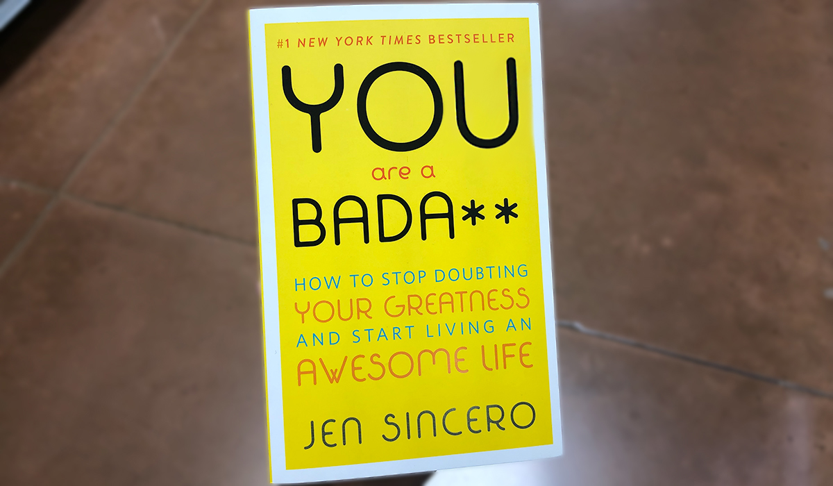 best Amazon self-help books — you are a bada** by jen sincero