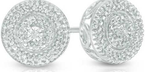 Zales: Diamond Accent Stud Earrings in Sterling Silver Only $24.99 (Regularly $119)