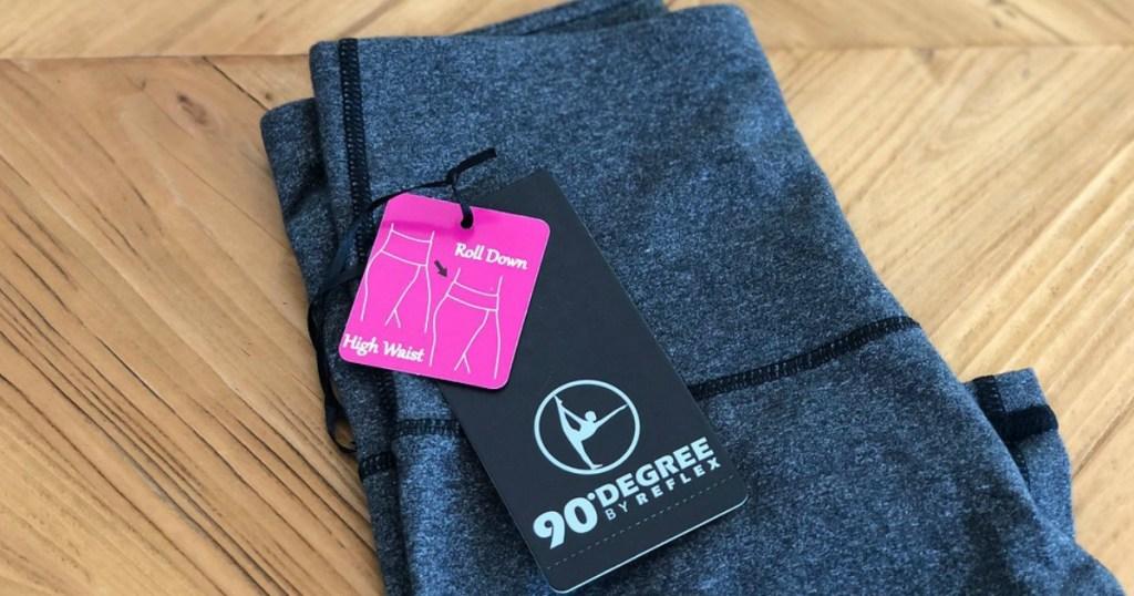 pair of 90 degree leggings