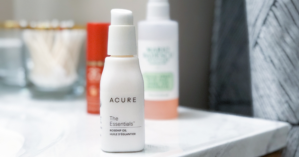 skincare acure review – rose hip oil — use in nightly skincare routine