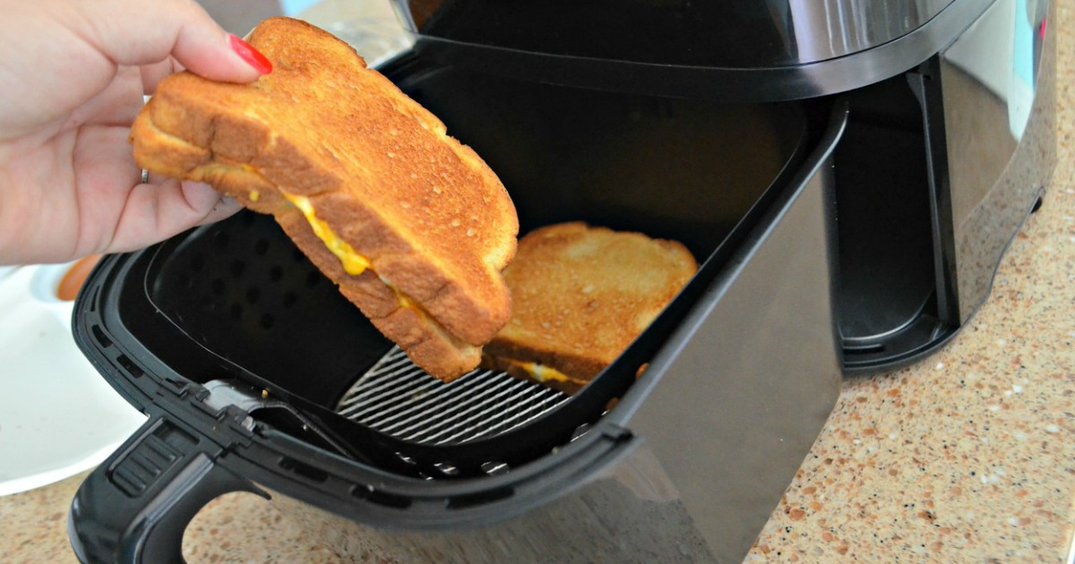 removing grilled cheese from air fryer