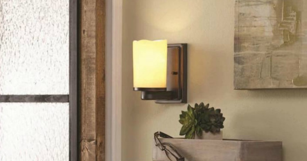 070f45c131 allen + roth Harpwell Oil-Rubbed bronze Arm Wall Sconce Only  12.49  (regularly  24.98)