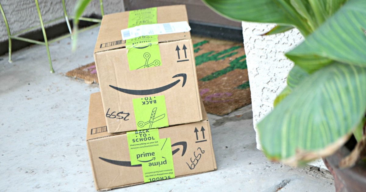 state sales tax online shopping - amazon.com boxes stacked on a front porch
