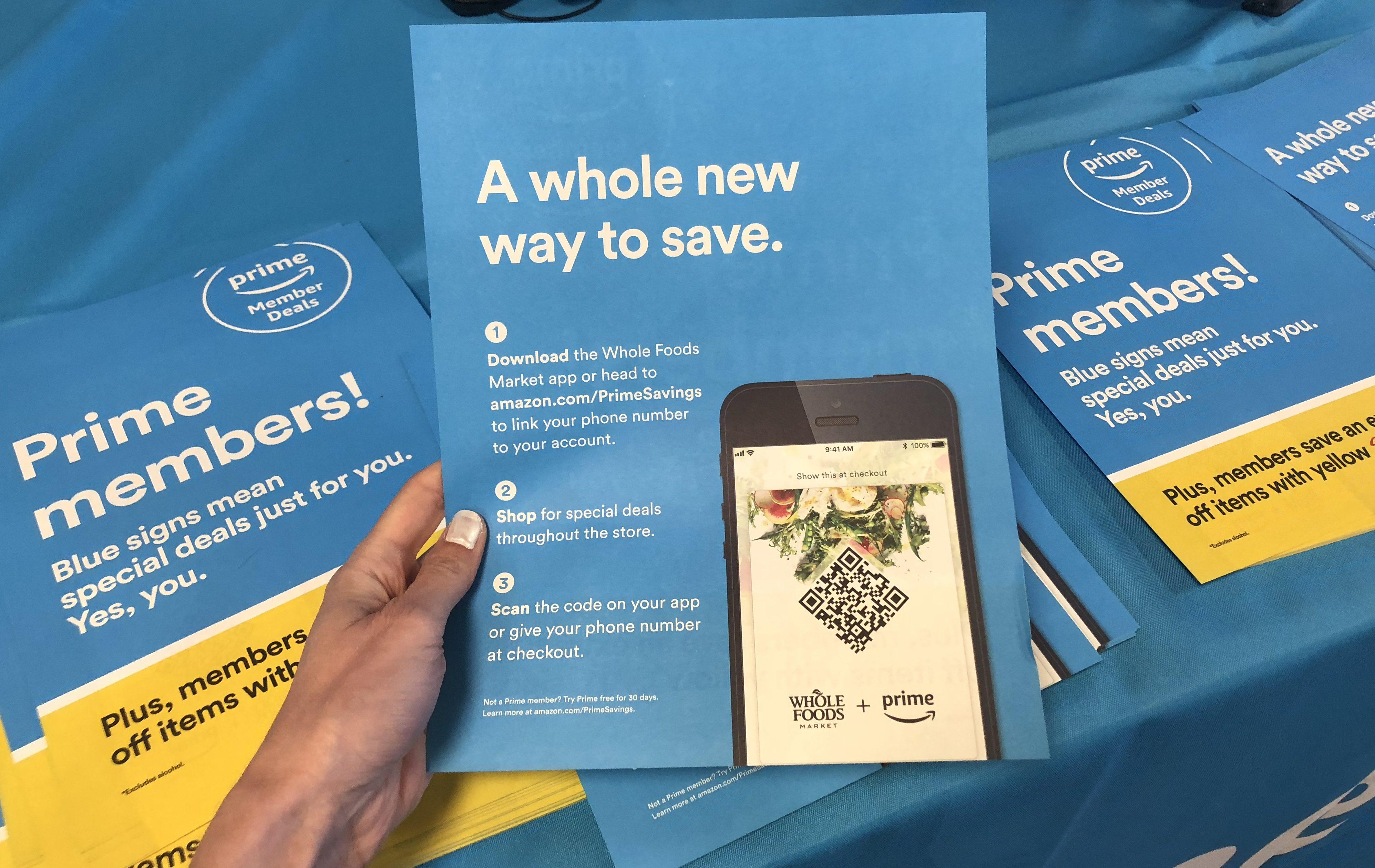 amazon prime sale whole foods - Amazon Whole Foods App flyer