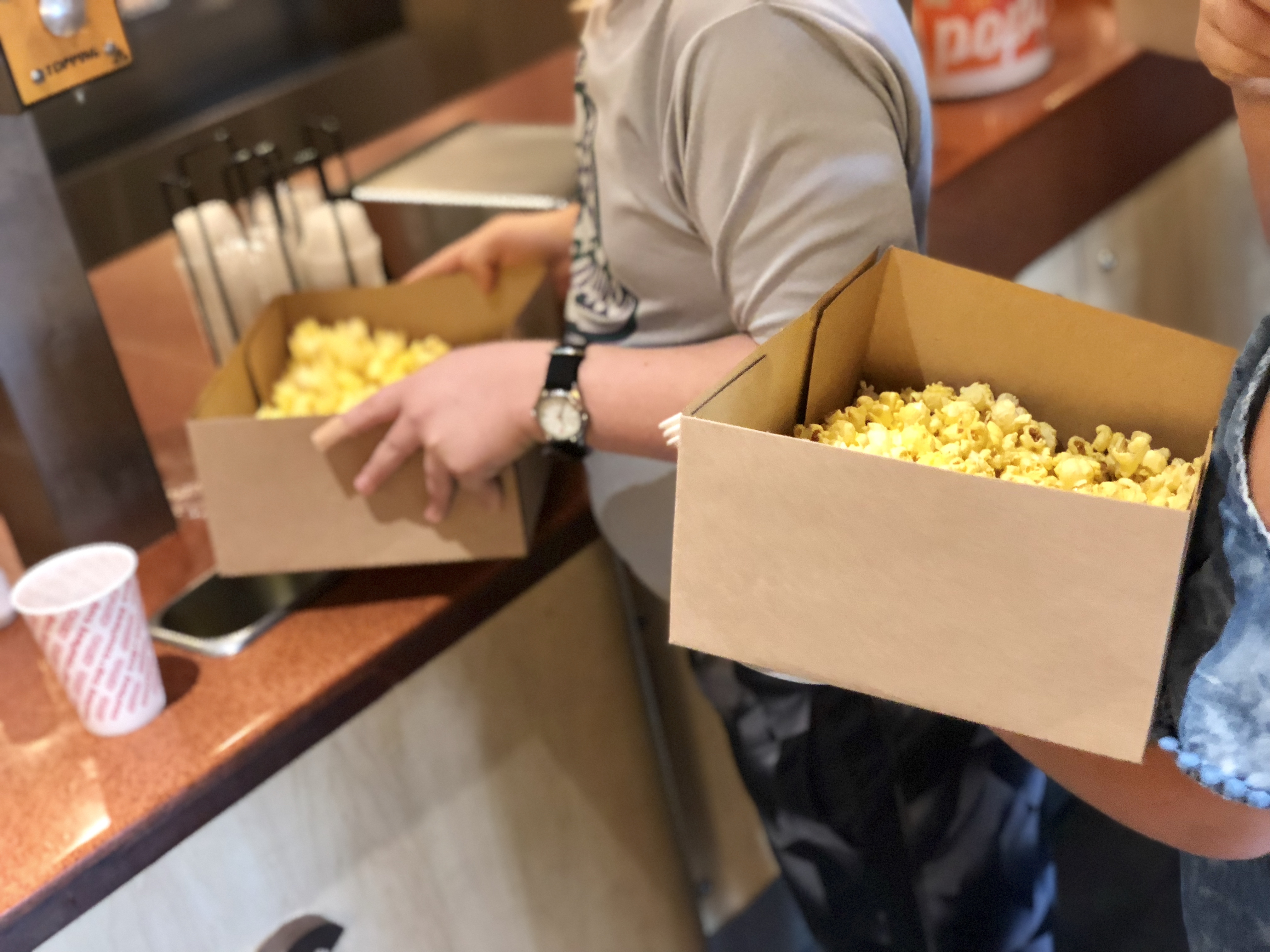 movies amc launching subscription moviepass - Boxes of popcorn