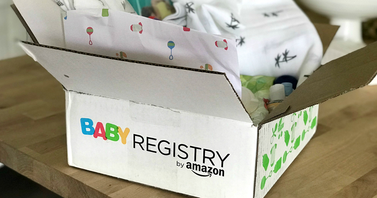 Get a free Baby Welcome Box from Amazon Baby Registry – outside of the open box