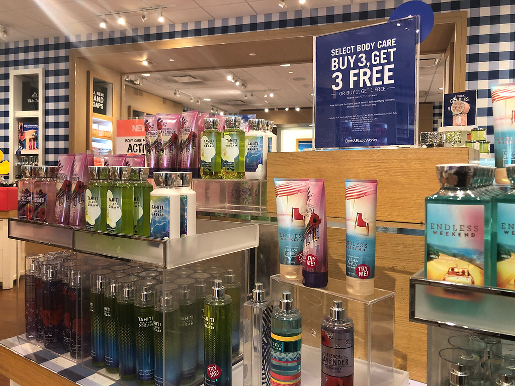 16 secrets for saving big at bath & body works – in store display