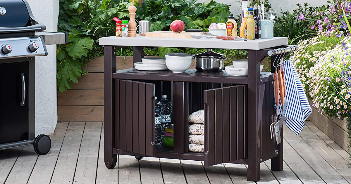 Keter Unity Entertainment Bbq Storage Table Only Shipped Regularly Hip Save