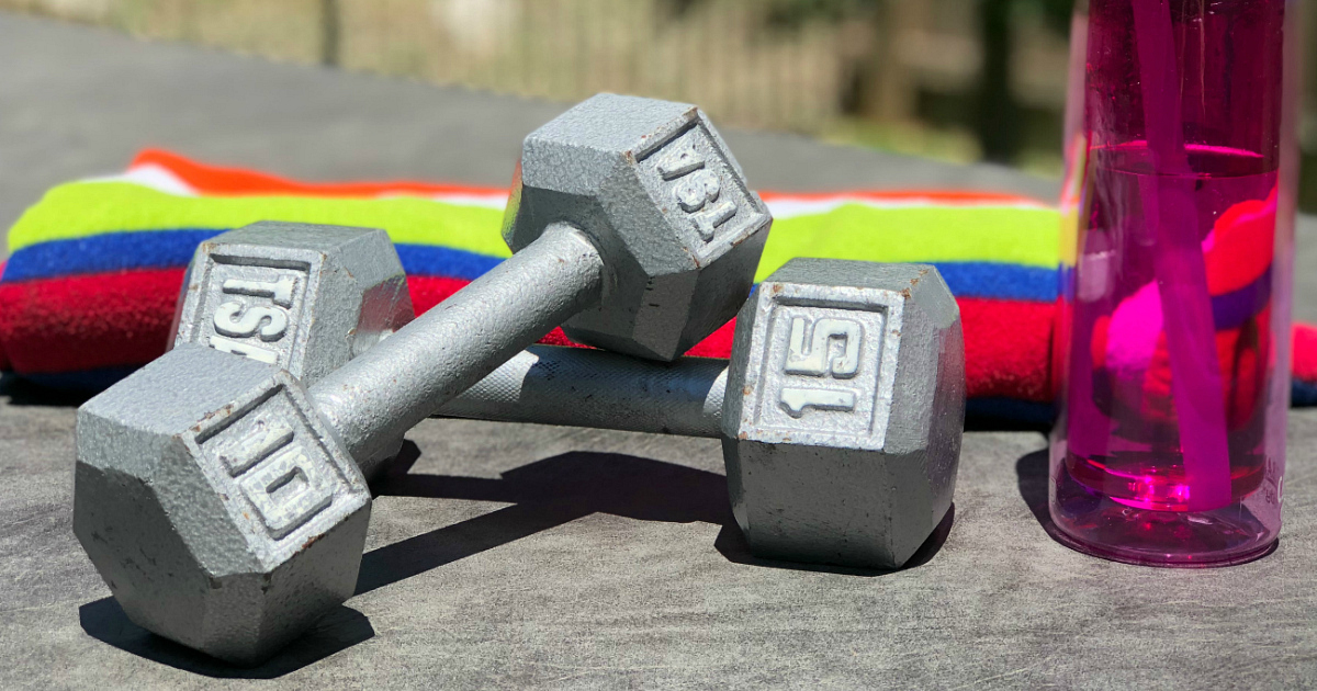 free beachbody on demand trial – dumbbells and water