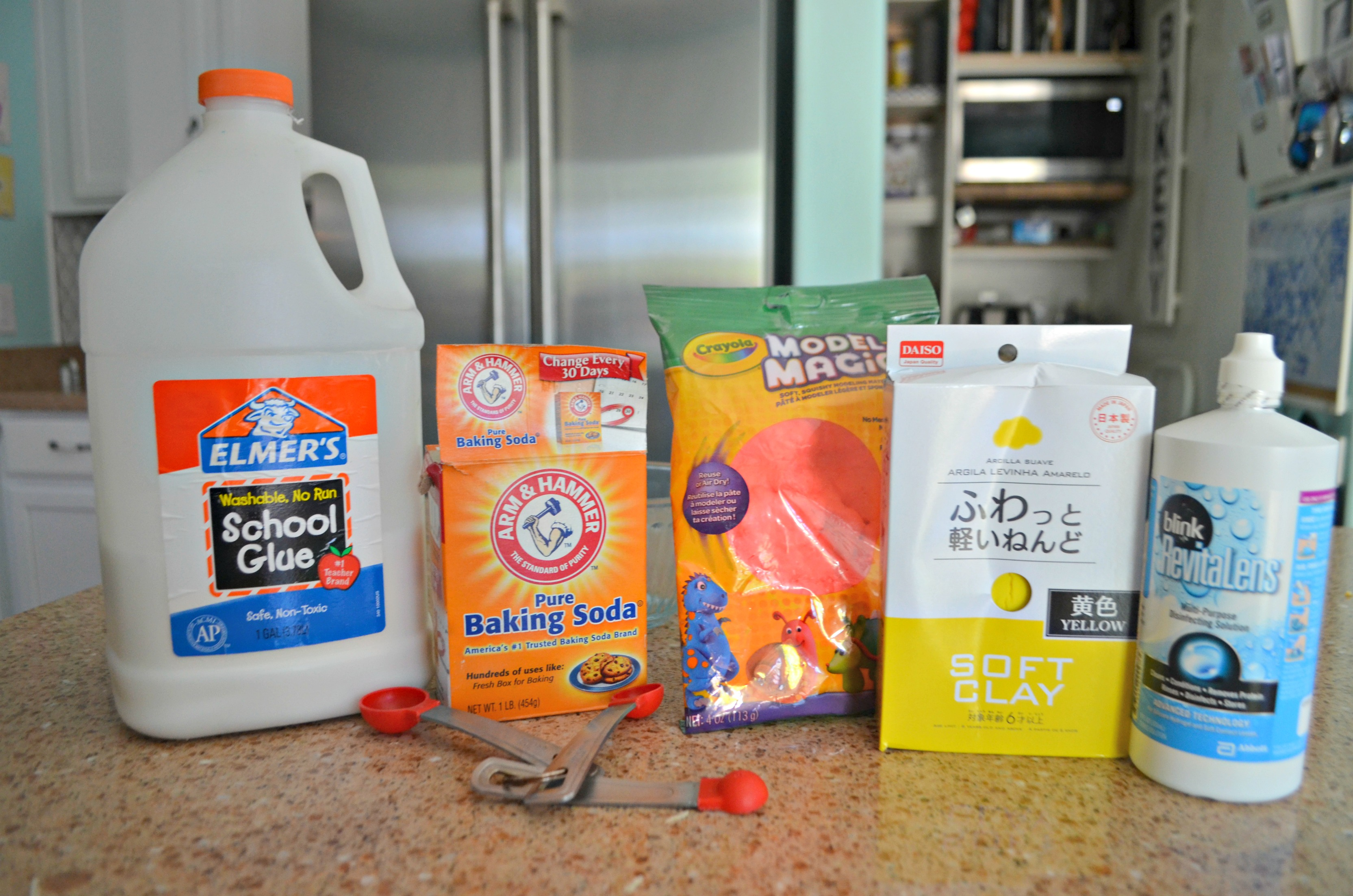 Make diy butter slime using clay – Ingredients