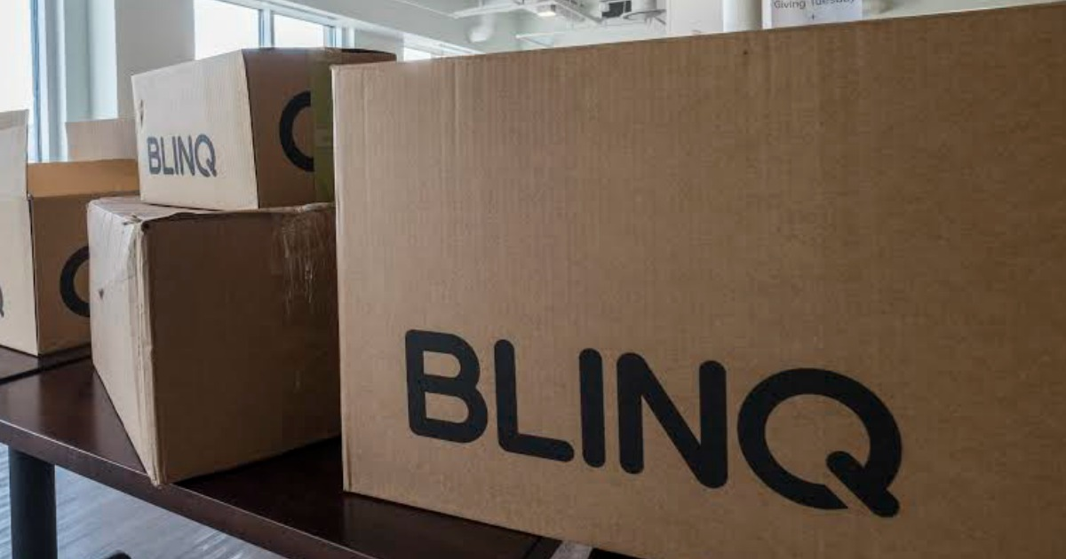 BLINQ boxes in warehouse