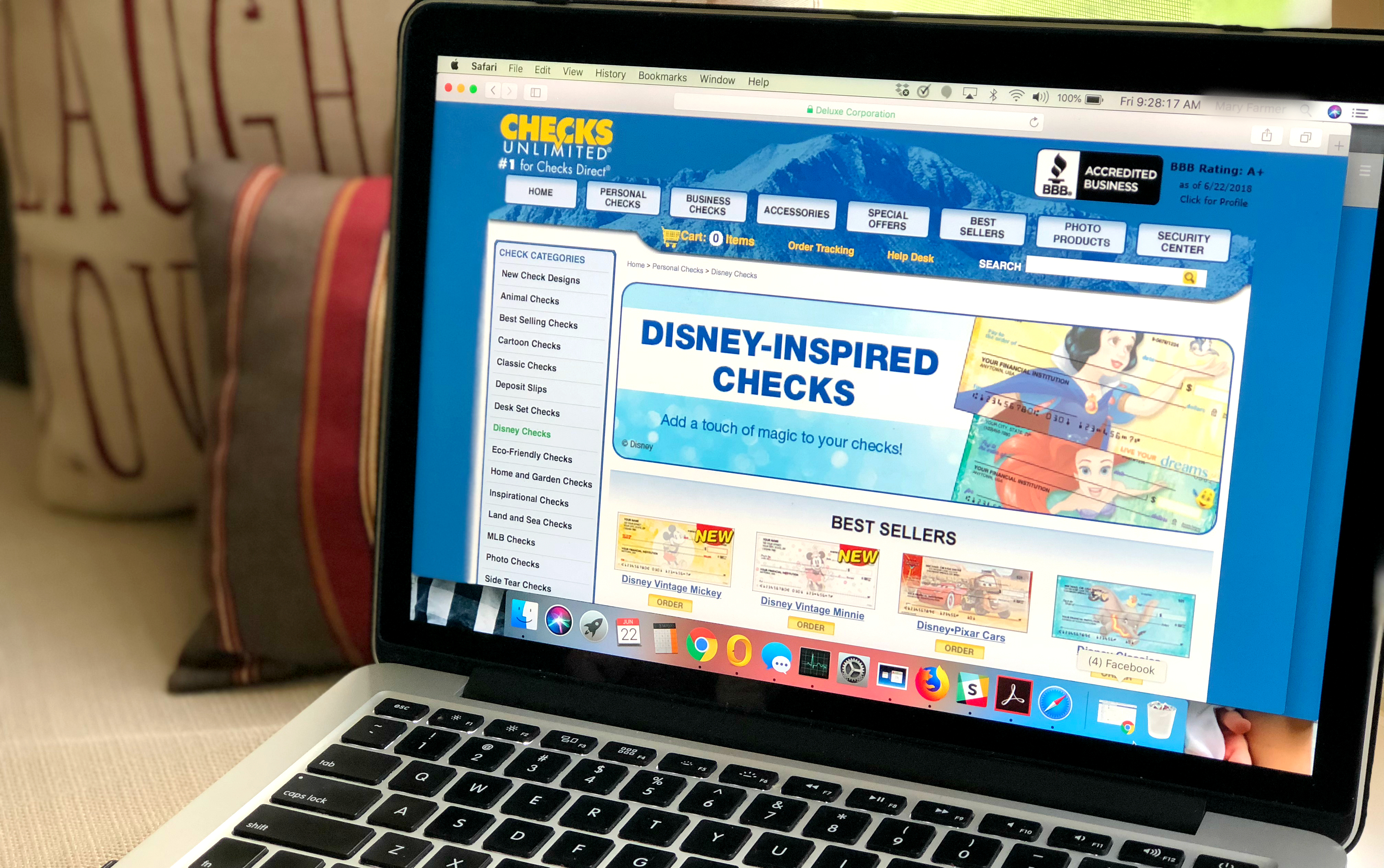 Get custom Disney personalized checks from Checks Unlimited shipped for less than $5 per box!