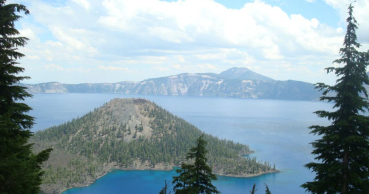 mountains and a lake