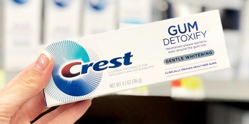 Three Crest Gum Detoxify Deep Clean Toothpastes Only $10.49 on Amazon