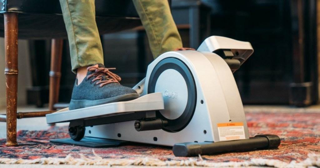 bottom portion of legs using under the desk elliptical
