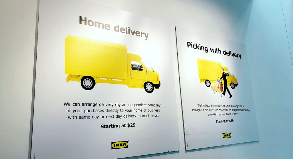 ikea shopping tips — look into delivery options