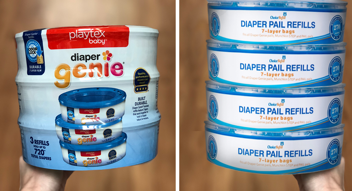 generic baby brands — diaper pail refill liners