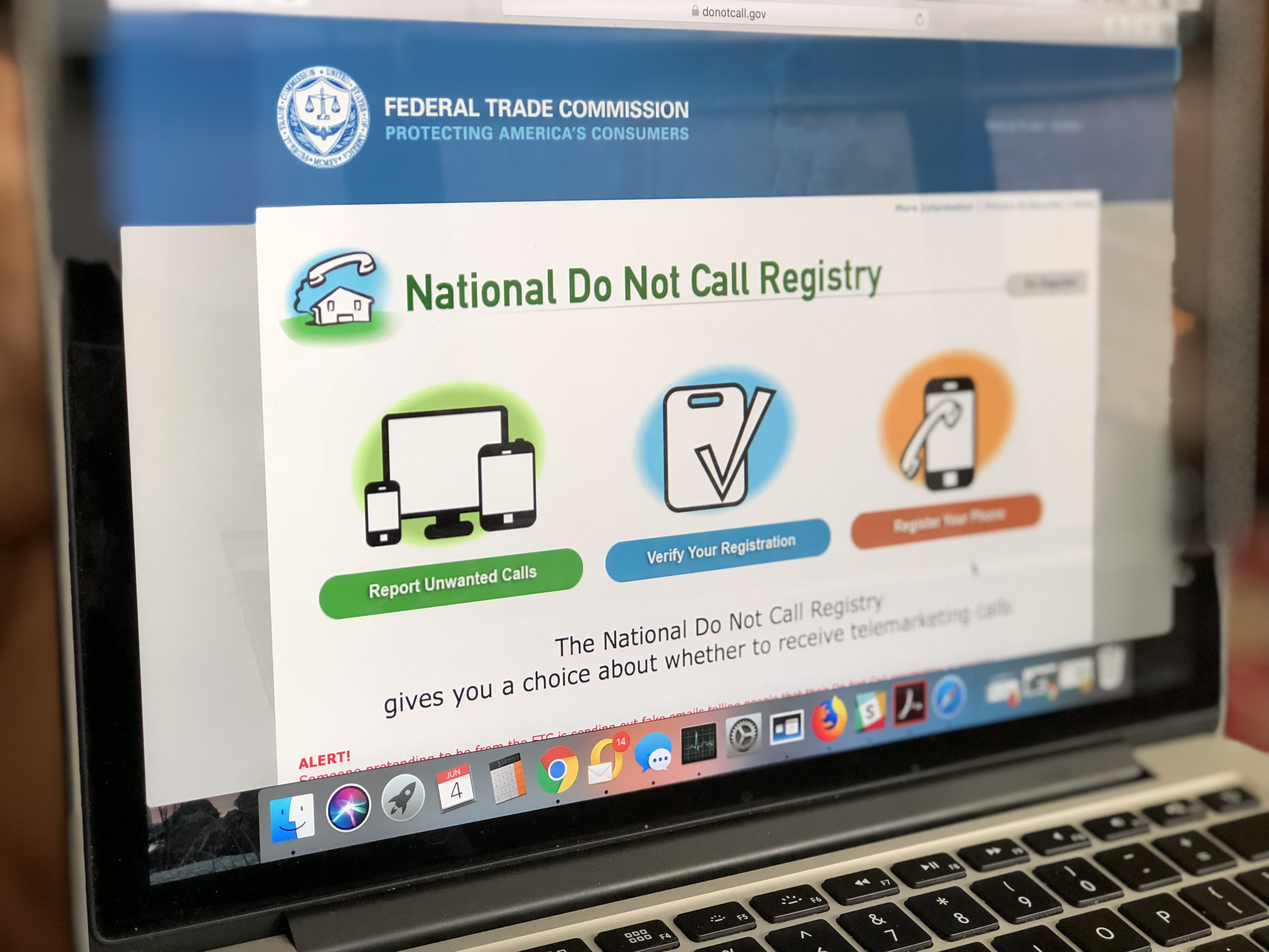 stop unwanted spam phone calls – national do not call registry