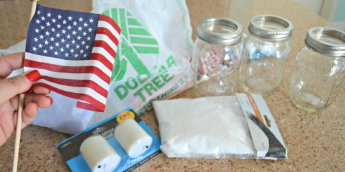 Craft These Dollar Tree 4th of July Mason Jar Votives in a Few Minutes!