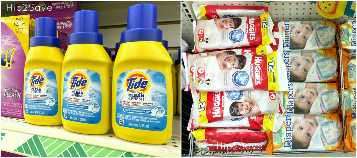 things to buy or avoid at dollar tree – brand names Tide and Huggies
