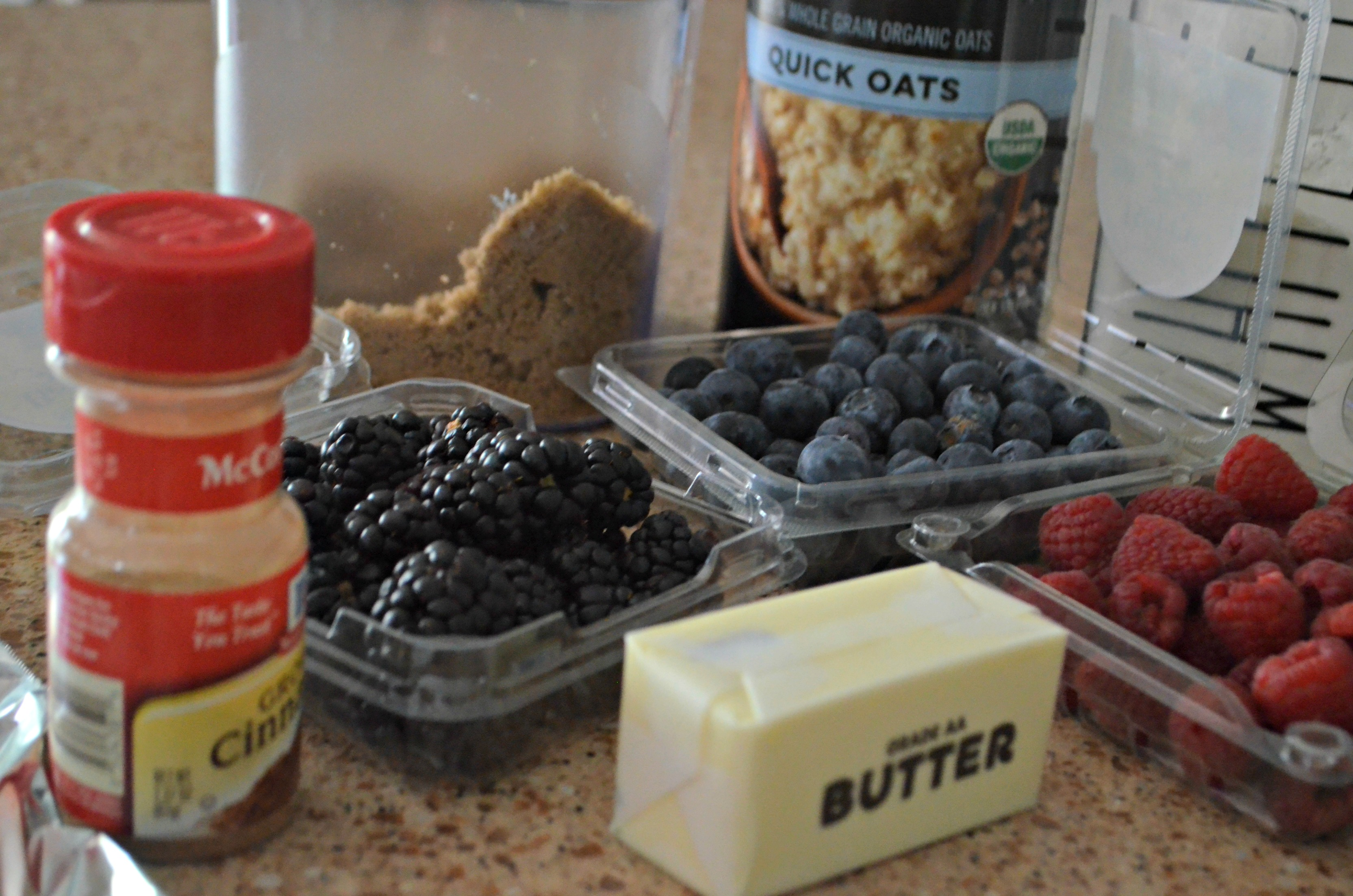 berry crisp packets for grilling or camping – the ingredients