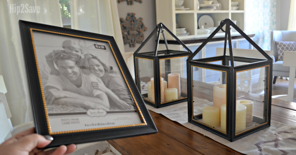 Hip2Save's Top 10 Recipe & DIY Posts of All Time –– dollar tree picture frame lanterns