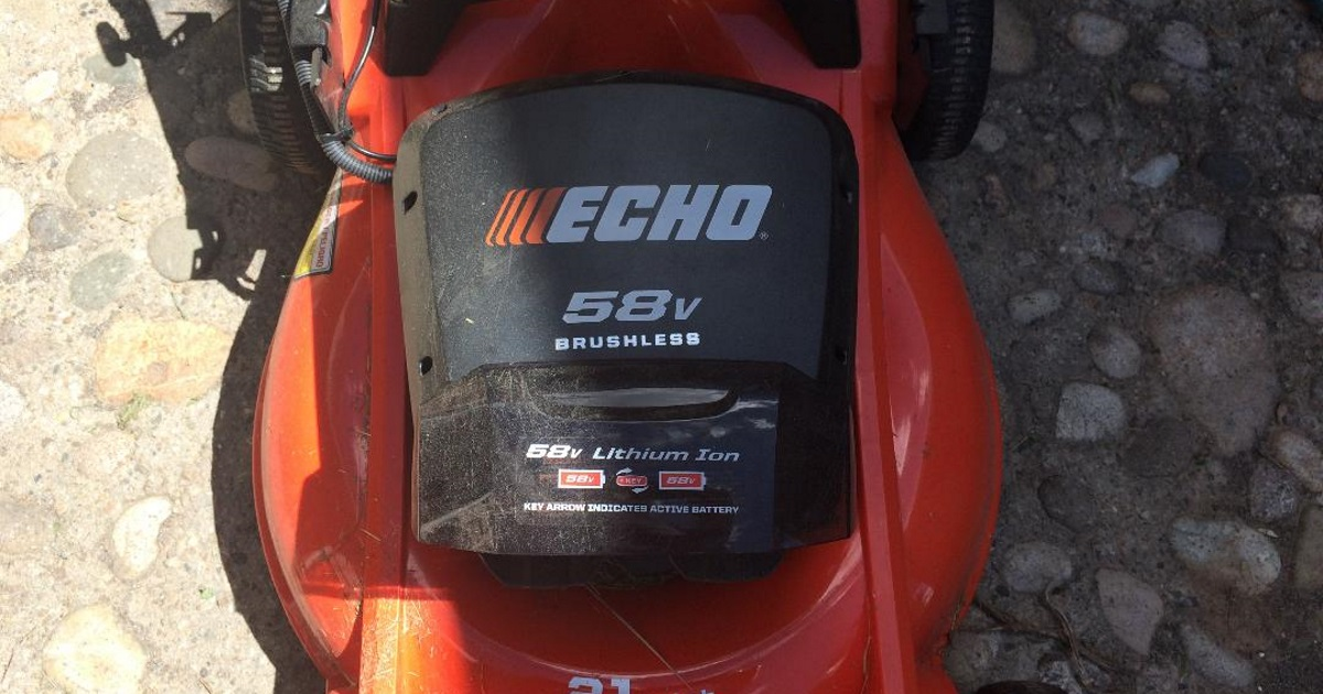 echo electric lawnmower review - mower top