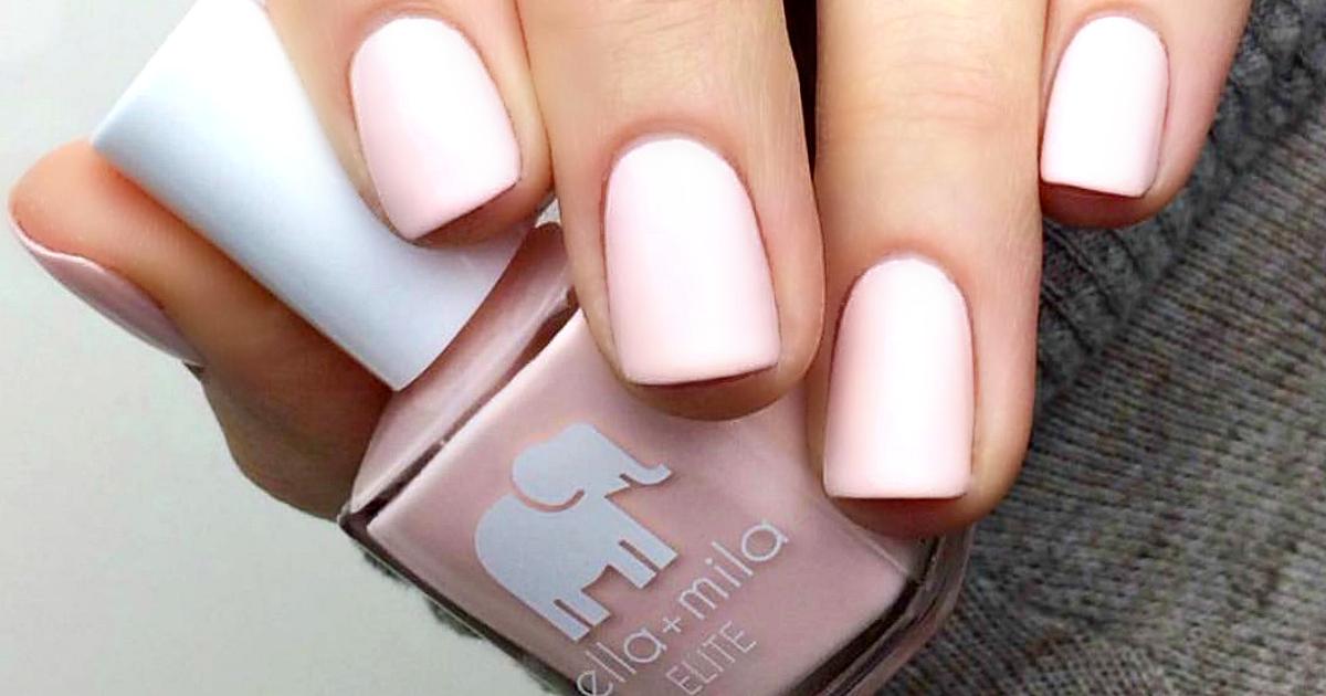 Ella + Mila nail products deal – nail polish close up with bottle