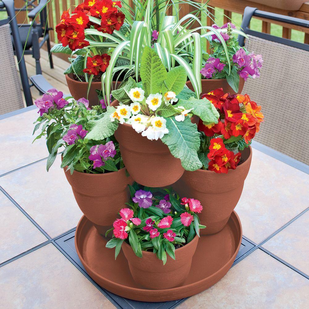 Home Depot Emsco 3 Tier Resin Flower Herb Vertical Planter Only