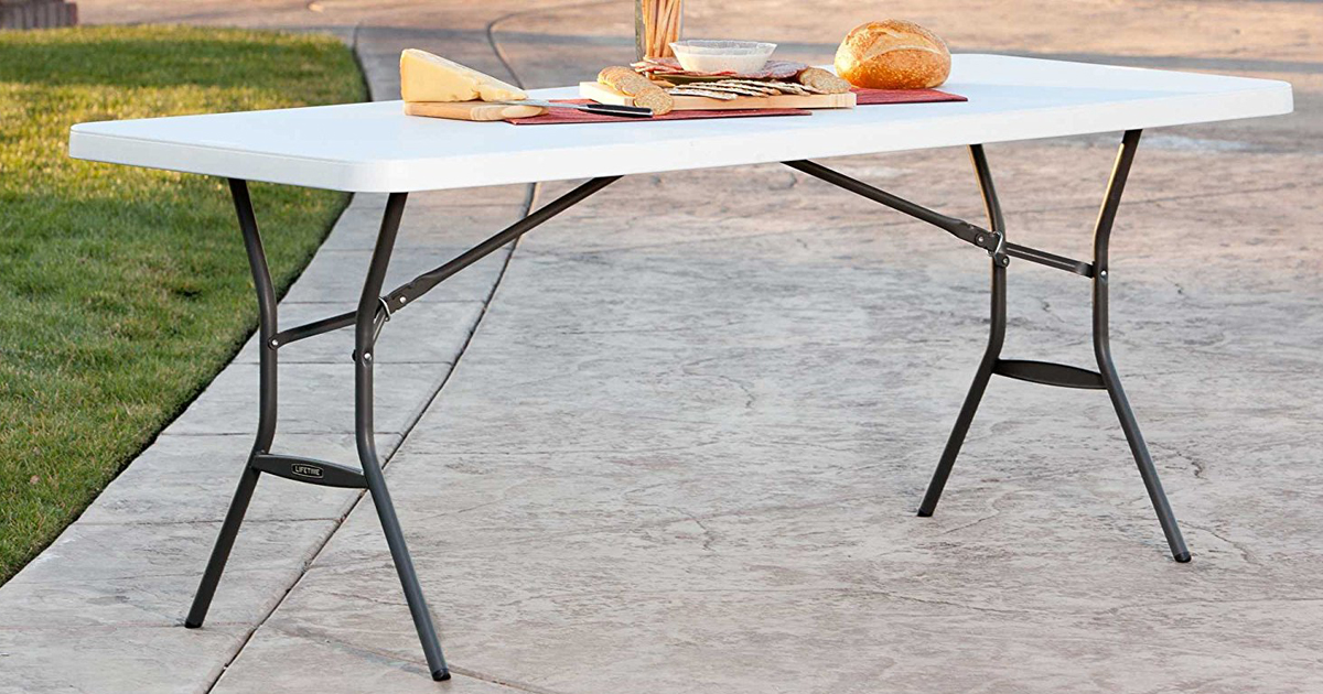 lifetime 6 fold in half commercial table only 44 98 shipped
