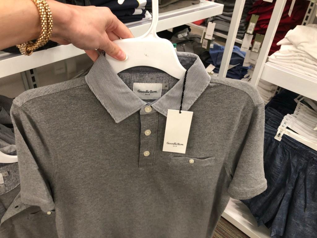 8ed8d4e8862c Buy two Goodfellow   Co Men s Short Sleeve Polo Shirts  14.99 each. Buy one  Goodfellow   Co Men s Richmond Navy Flip Flop Sandals  3.99. Total    33.97